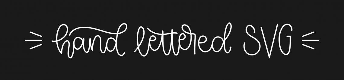 Hand Lettered SVG Profile Banner
