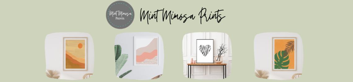 Mint Mimosa Prints Profile Banner