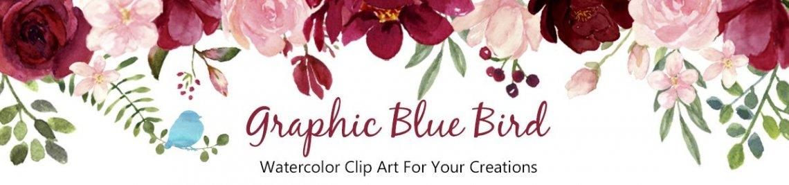 Graphic Blue Bird Profile Banner