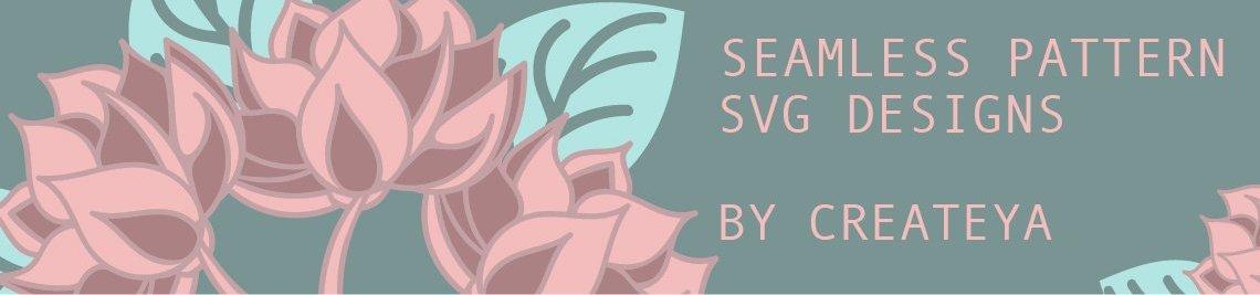 Seamless Pattern SVG designs by Createya Profile Banner