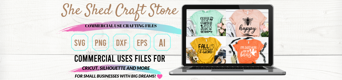 She Shed Craft Store Profile Banner
