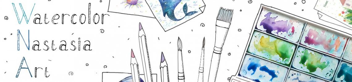 Watercolor Nastasia Art Profile Banner