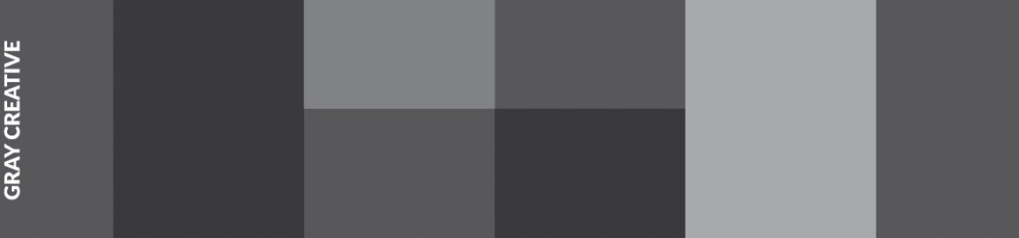 Gray Creative Profile Banner