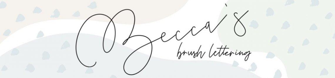 Becca's Brush Lettering Profile Banner