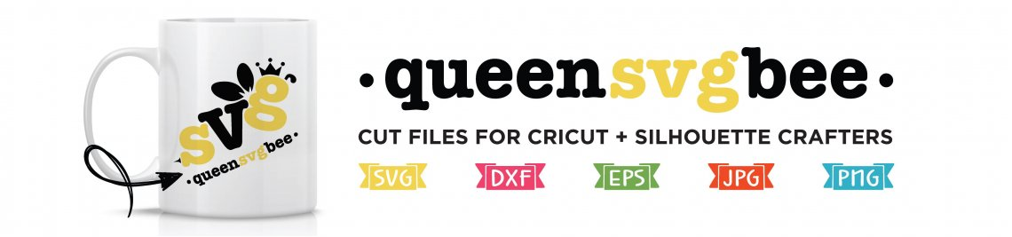 Queen SVG Bee Profile Banner