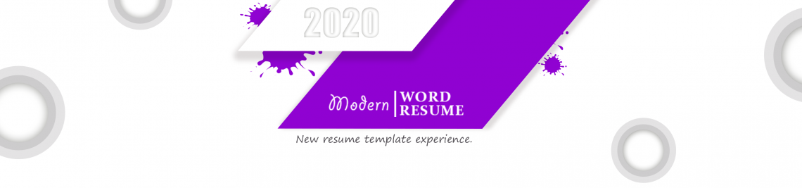 Modern Word Resume Profile Banner