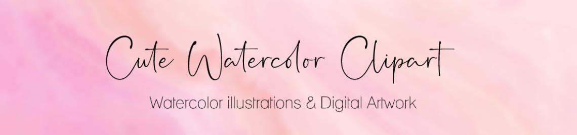 Watercolor Clipart Profile Banner