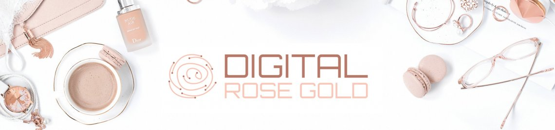 Digital Rose Gold Profile Banner