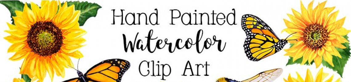 Paintybees-Watercolor Floral Profile Banner