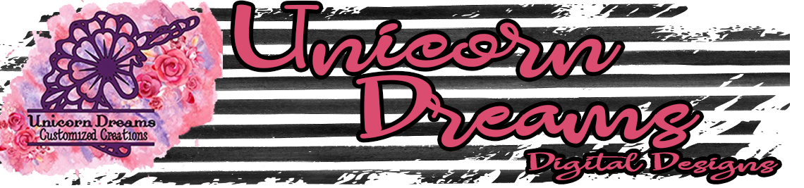 Unicorn Dreams Digital Designs Profile Banner