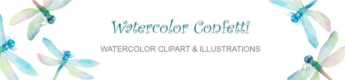 Watercolor Confetti Profile Banner