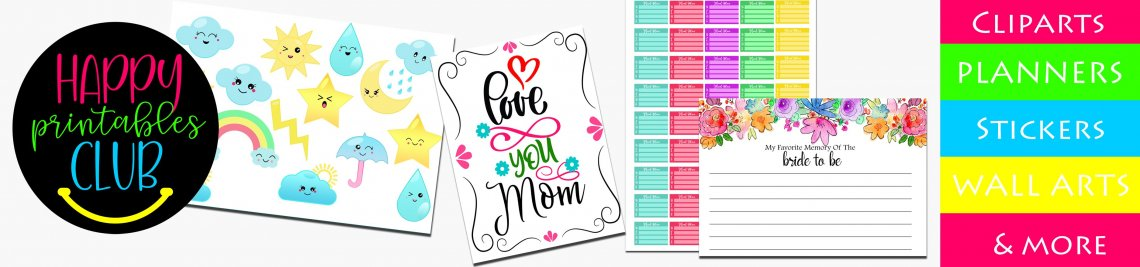 Happy Printables Club Profile Banner