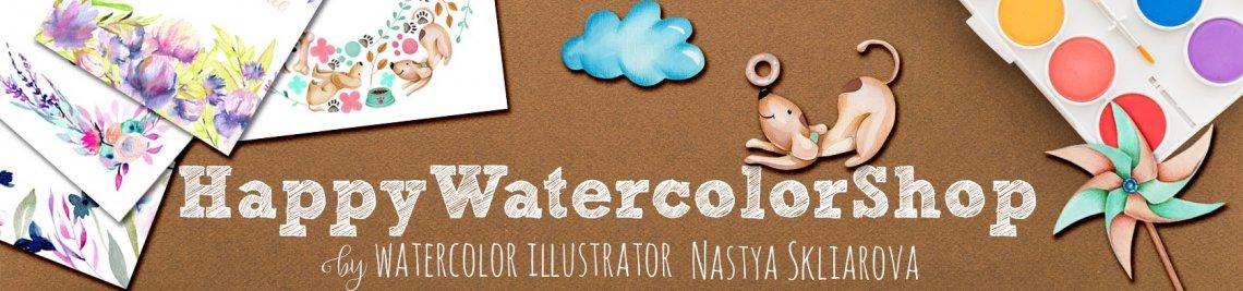 HappyWatercolorShop Profile Banner