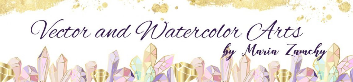 Watercolor and Vector Arts Profile Banner
