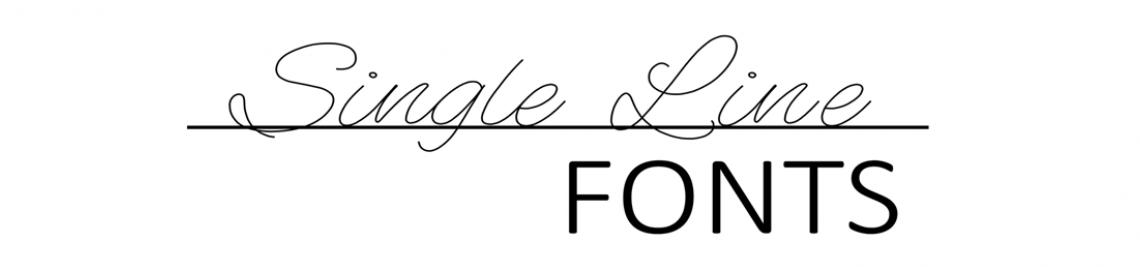 Single Line Fonts Profile Banner