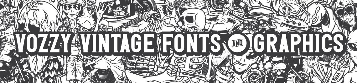 Vozzy Vintage Fonts And Graphics Profile Banner
