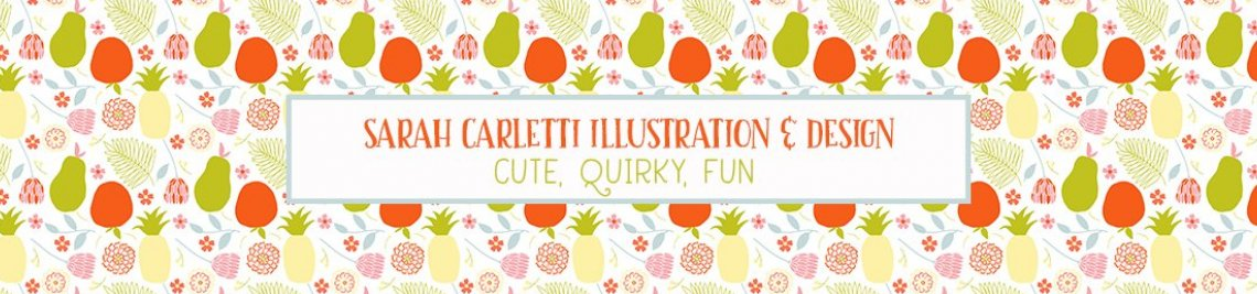 Sarah Carletti Illustration and Design Profile Banner