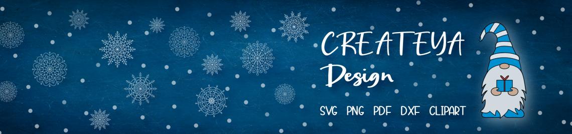 Createya Design SVG ClipArt Profile Banner