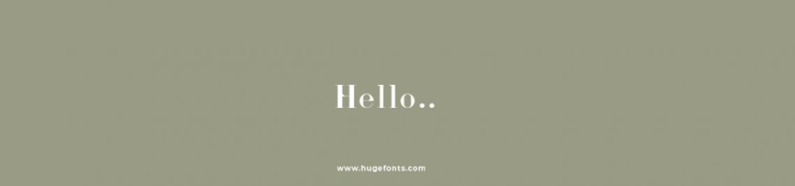 hugefonts Profile Banner