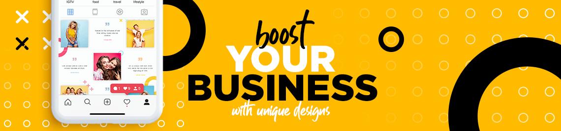 Unique Layout Studio Profile Banner