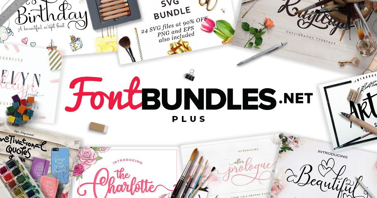 Plus Products | Font Bundles