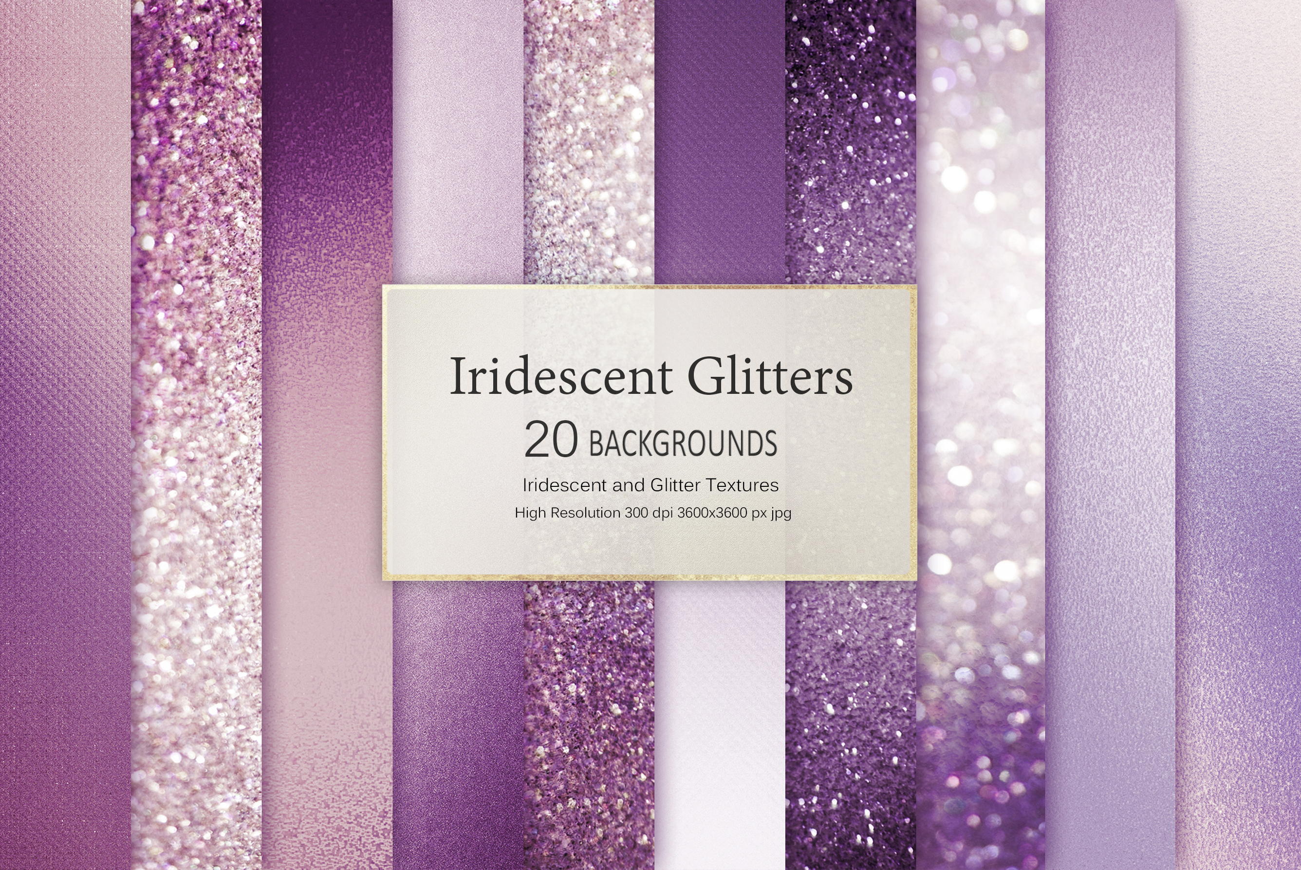 Iridescent and Glitter Foil 180 Textures BUNDLE example image 27
