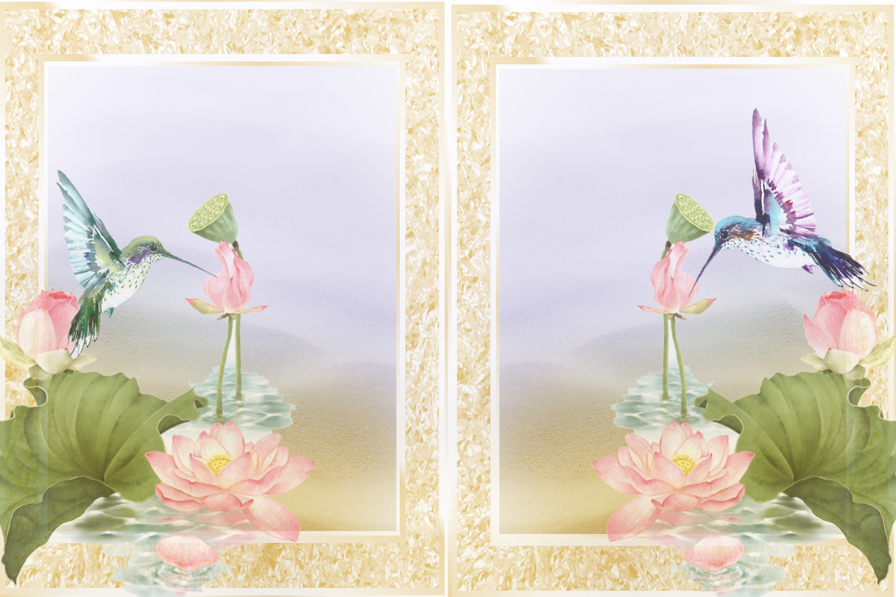 Hummingbird Journaling Kit Backgrounds Commercial Use example image 4