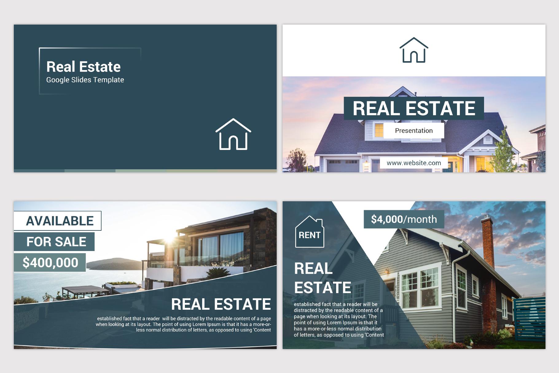 Real Estate Google Slides Template example image 4