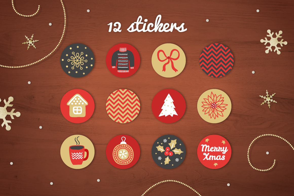 Christmas Ribbons, Stickers, Tags example image 3