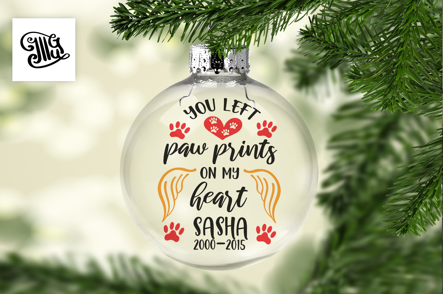 You left paw prints on my heart - Pet, cat, dog Memorial example image 1