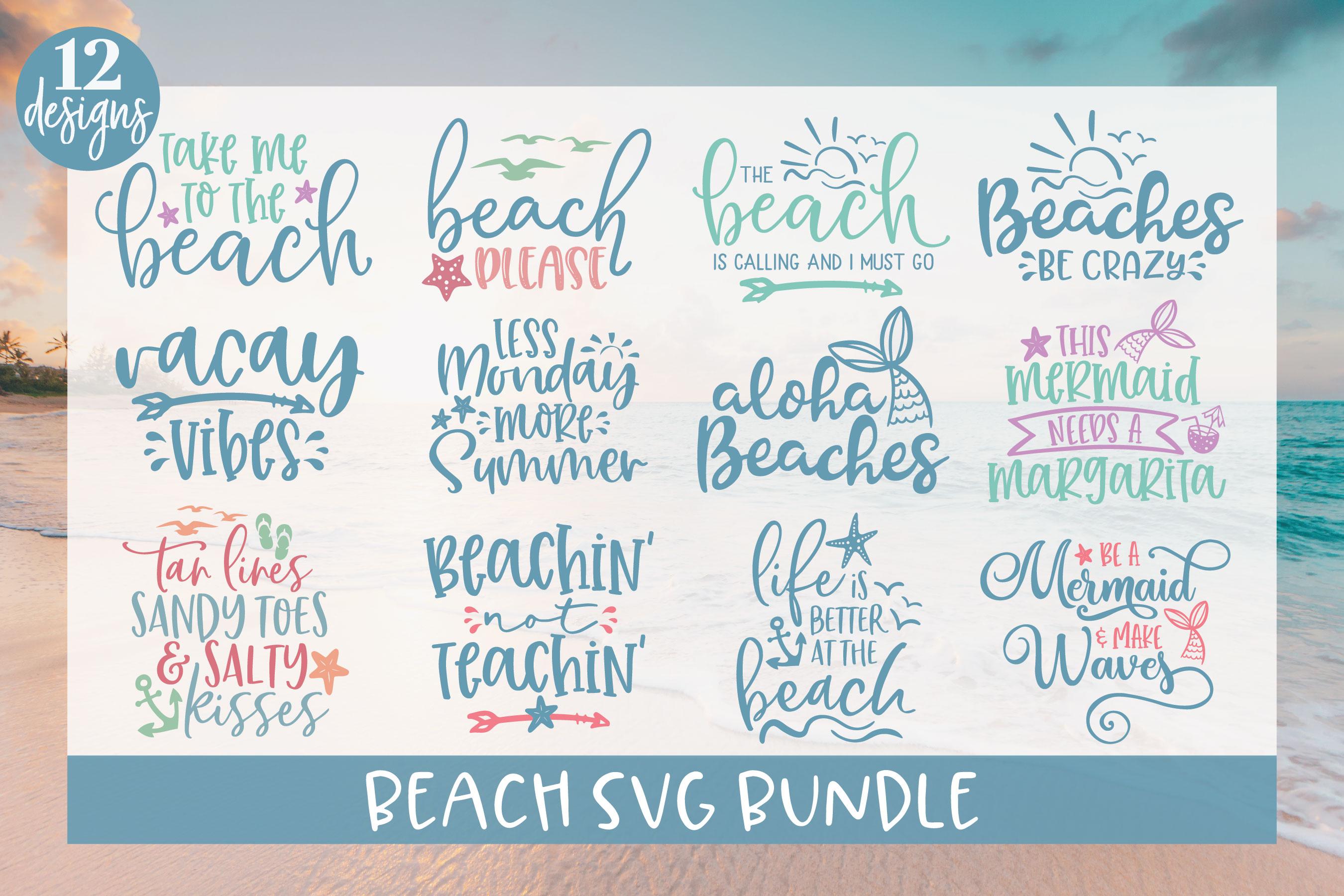 Beach SVG Bundle - 12 Summer SVG Cut Files example image 1