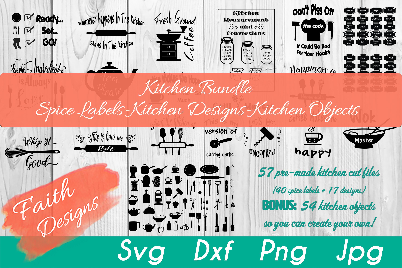 Kitchen Bundle-Spice Labels-Kitchen Designs-Kitchen Objects example image 1