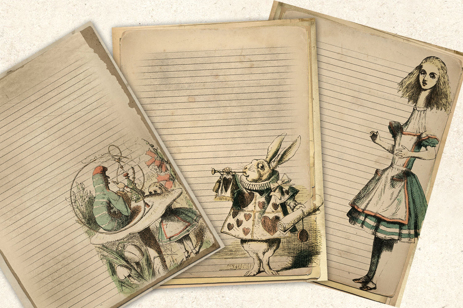Alice in Wonderland Notebook Paper example image 2