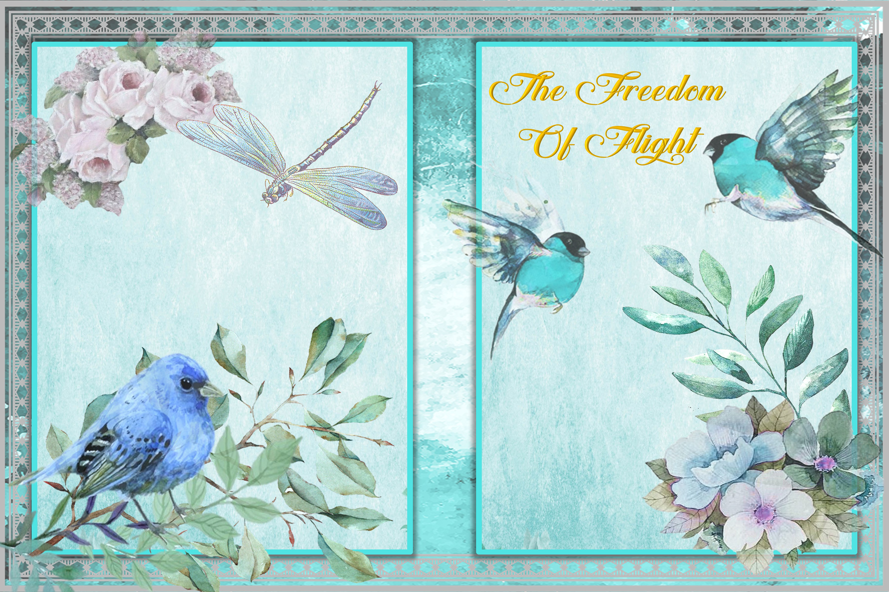 Printable Journal Kit with free Ephemera and clipart example image 3