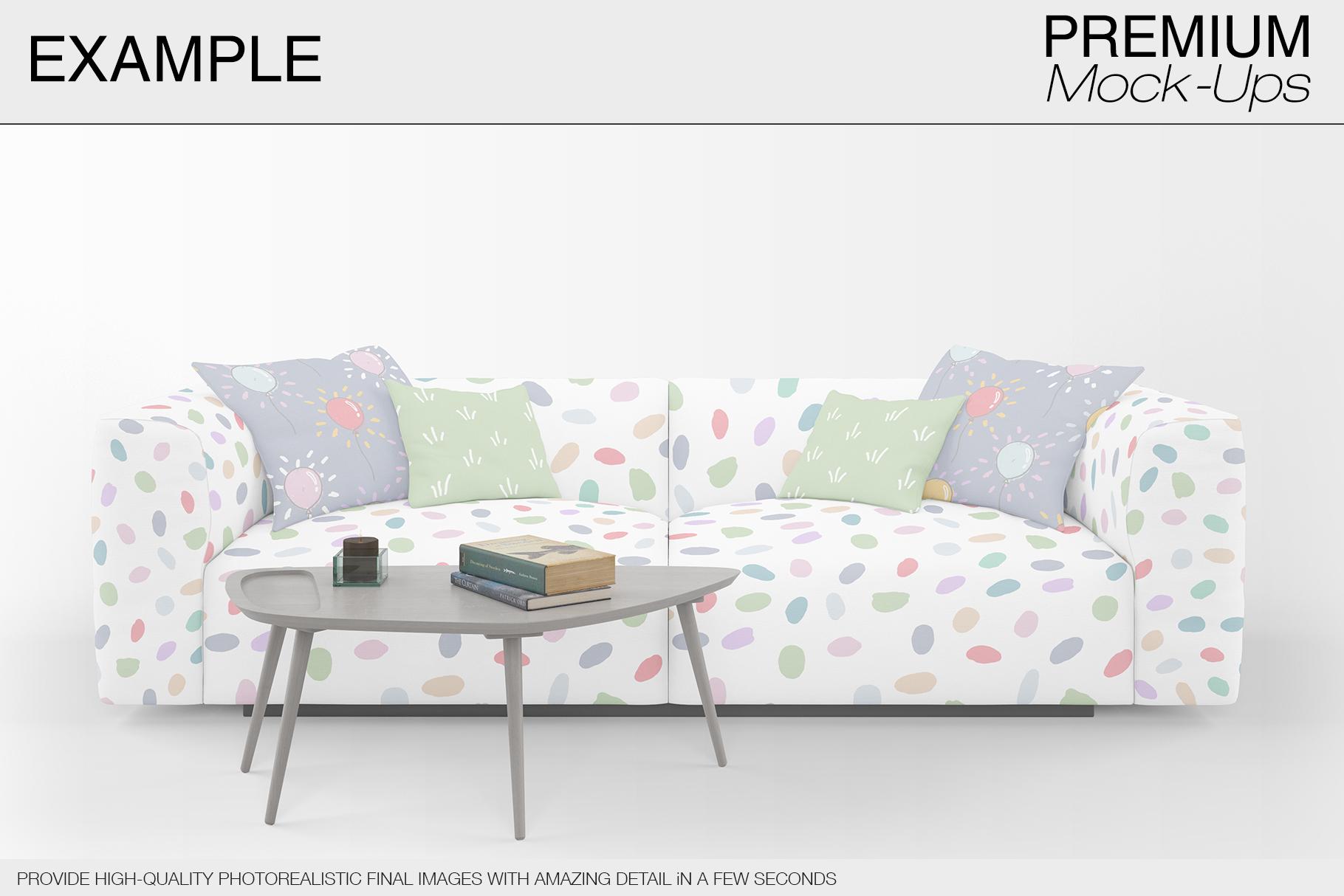 Sofa & Pillows Mockup Pack example image 5