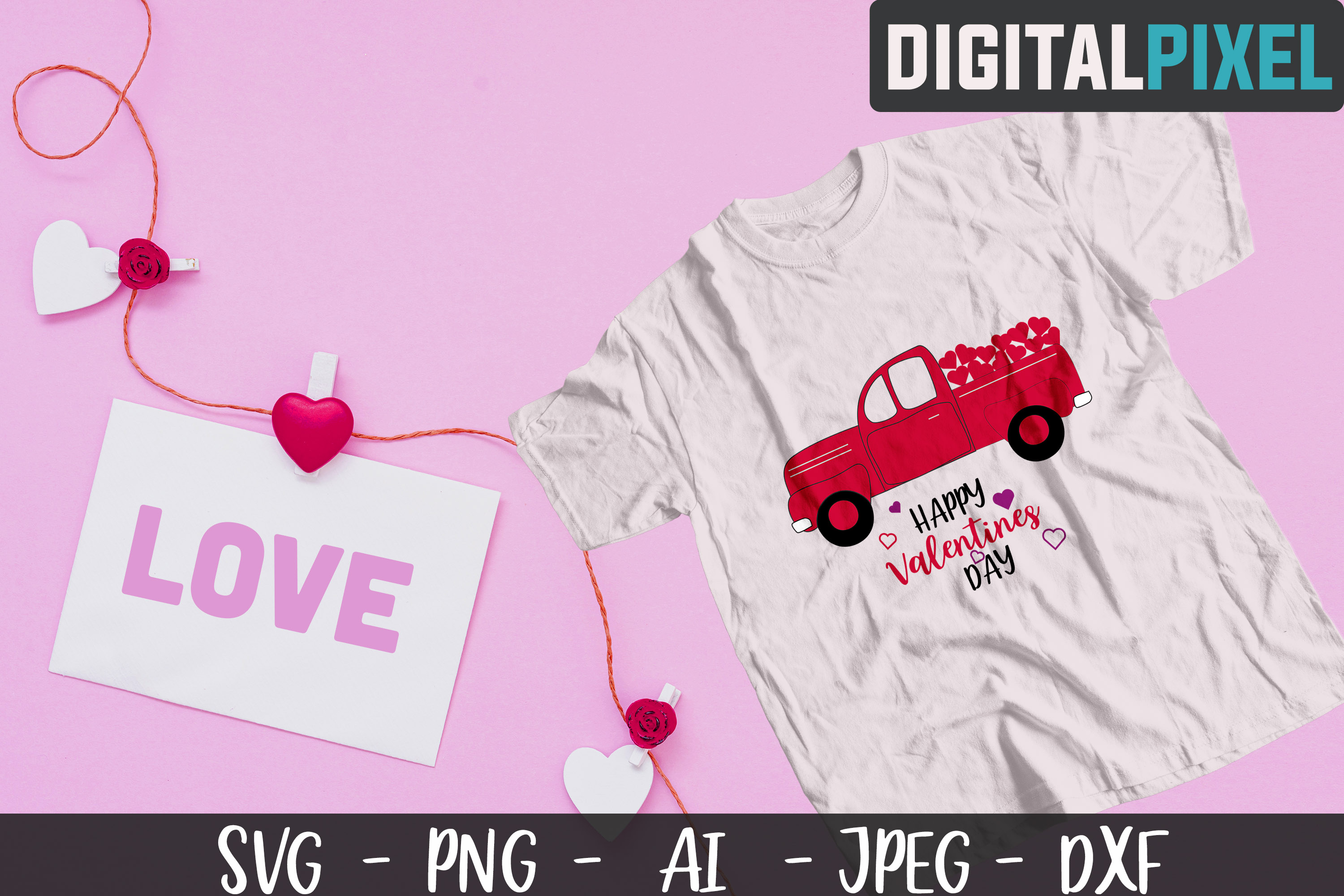 Valentines Day Bundle SVG PNG DXF Valentines Bundle Crafters example image 2