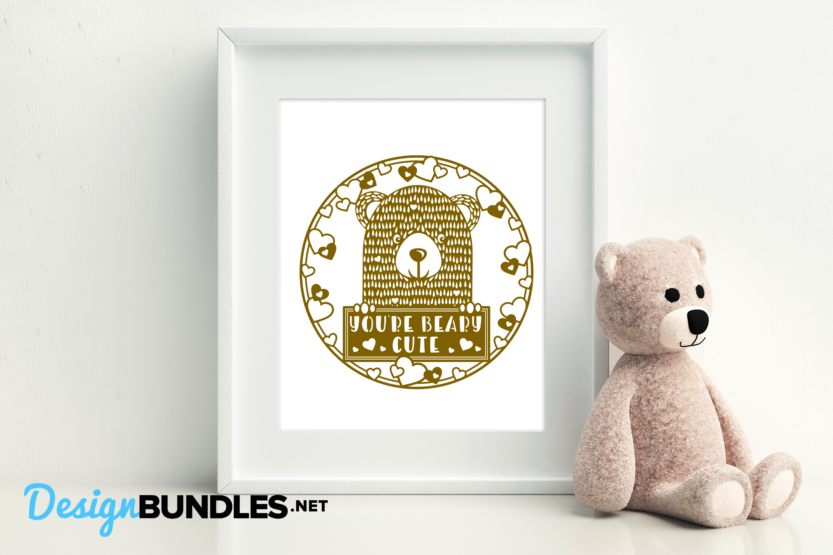 You're beary cute paper cut design example image 3