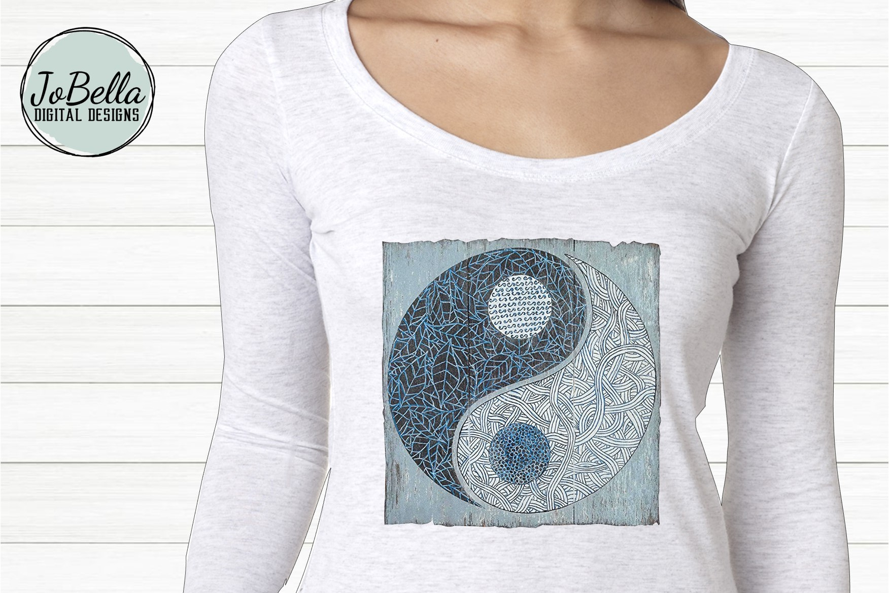 YinYang Sublimation Design example image 1