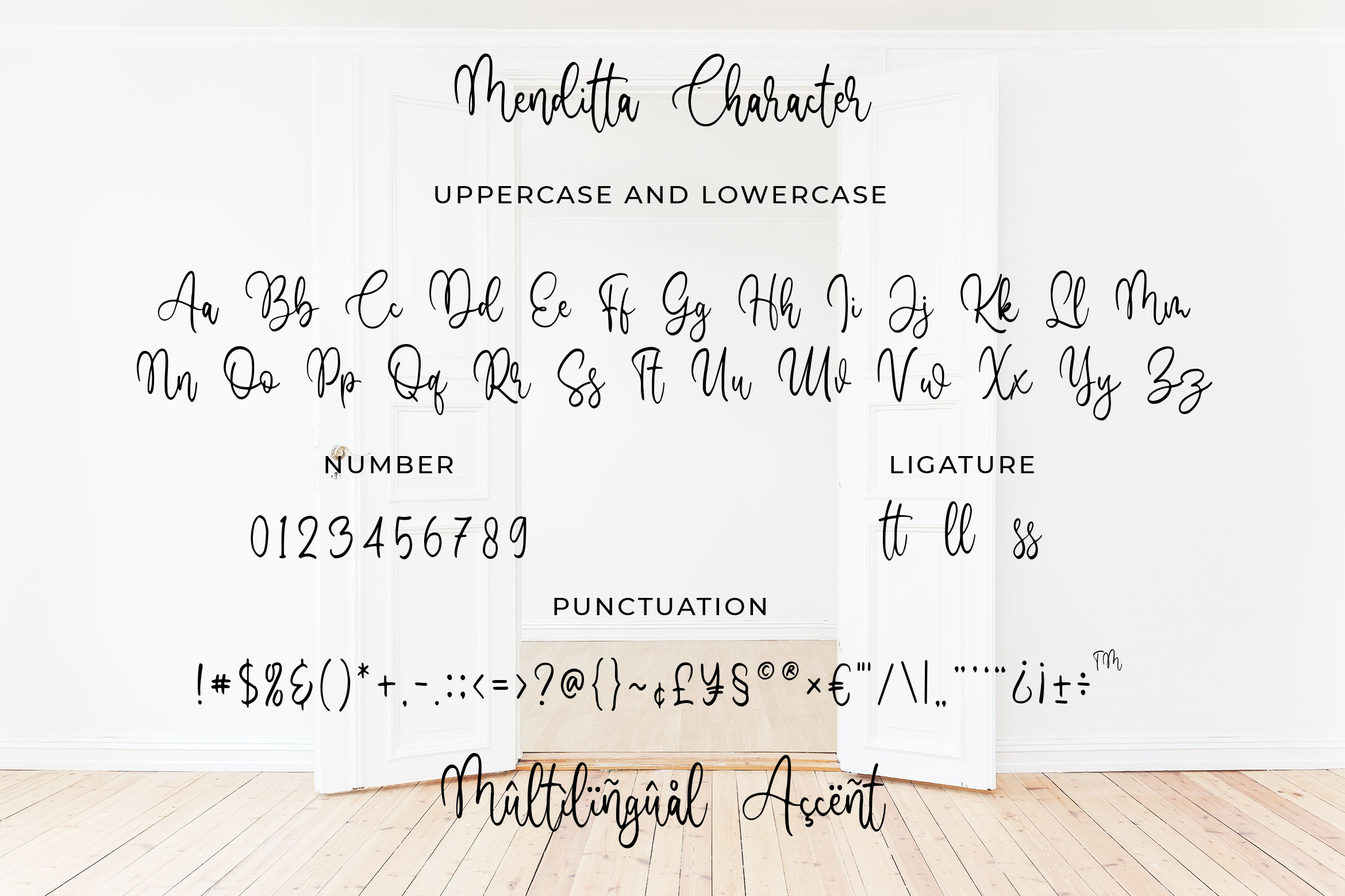 Menditta - Bounce Calligraphy Font example image 4