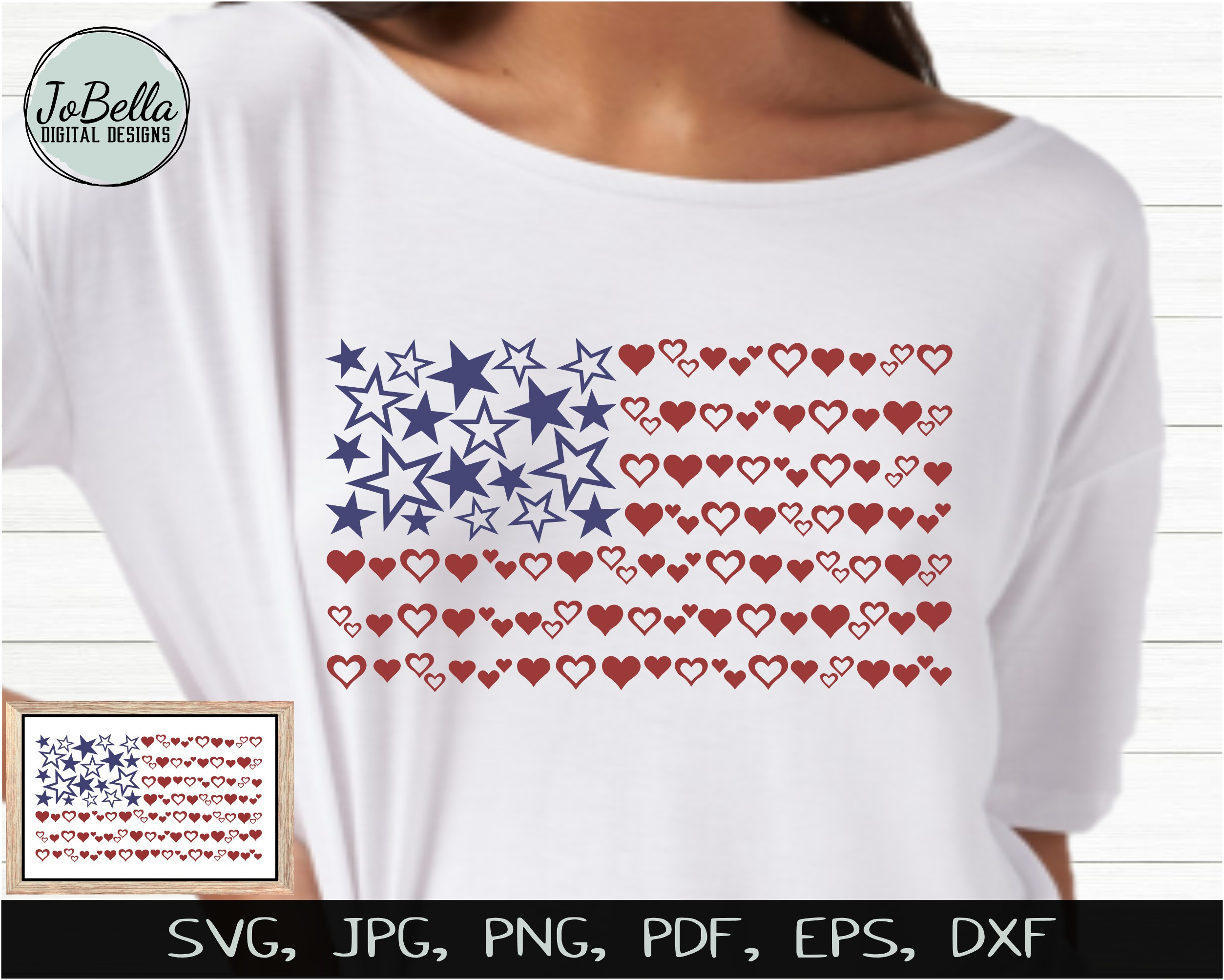 Patriotic SVG Bundle- July 4th Sublimation PNGs & Printables example image 2