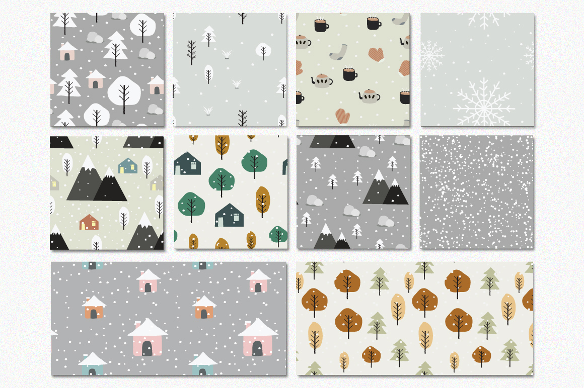 Winter - Seamless Patterns example image 2