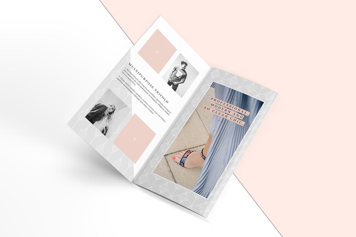 MALINA Trifold Brochure + Pattern example image 6