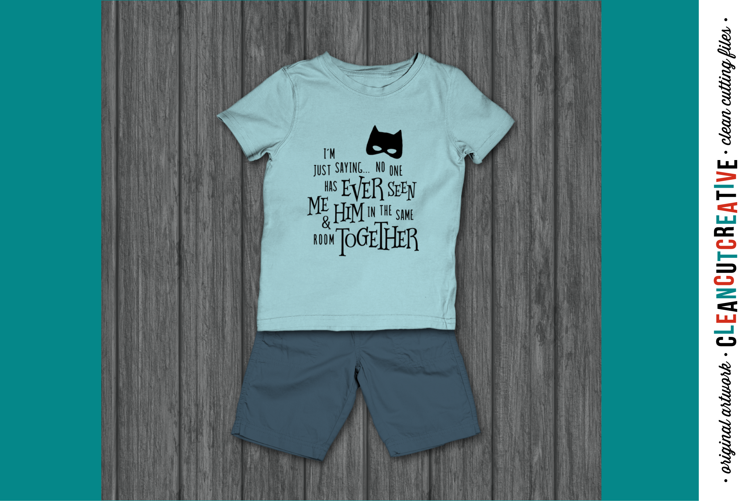 Funny Boy Superhero Quote - SVG DXF EPS PNG - clean cutfile example image 2