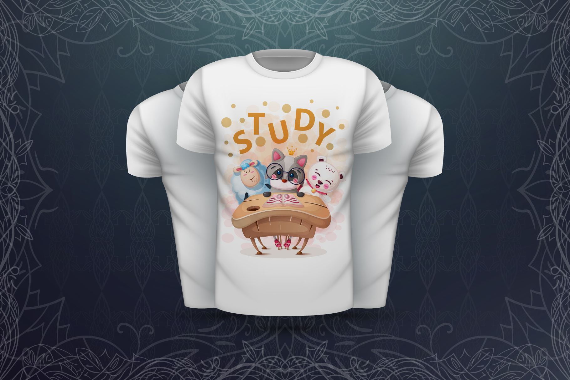 Set cute animals - for print t-shirt example image 3