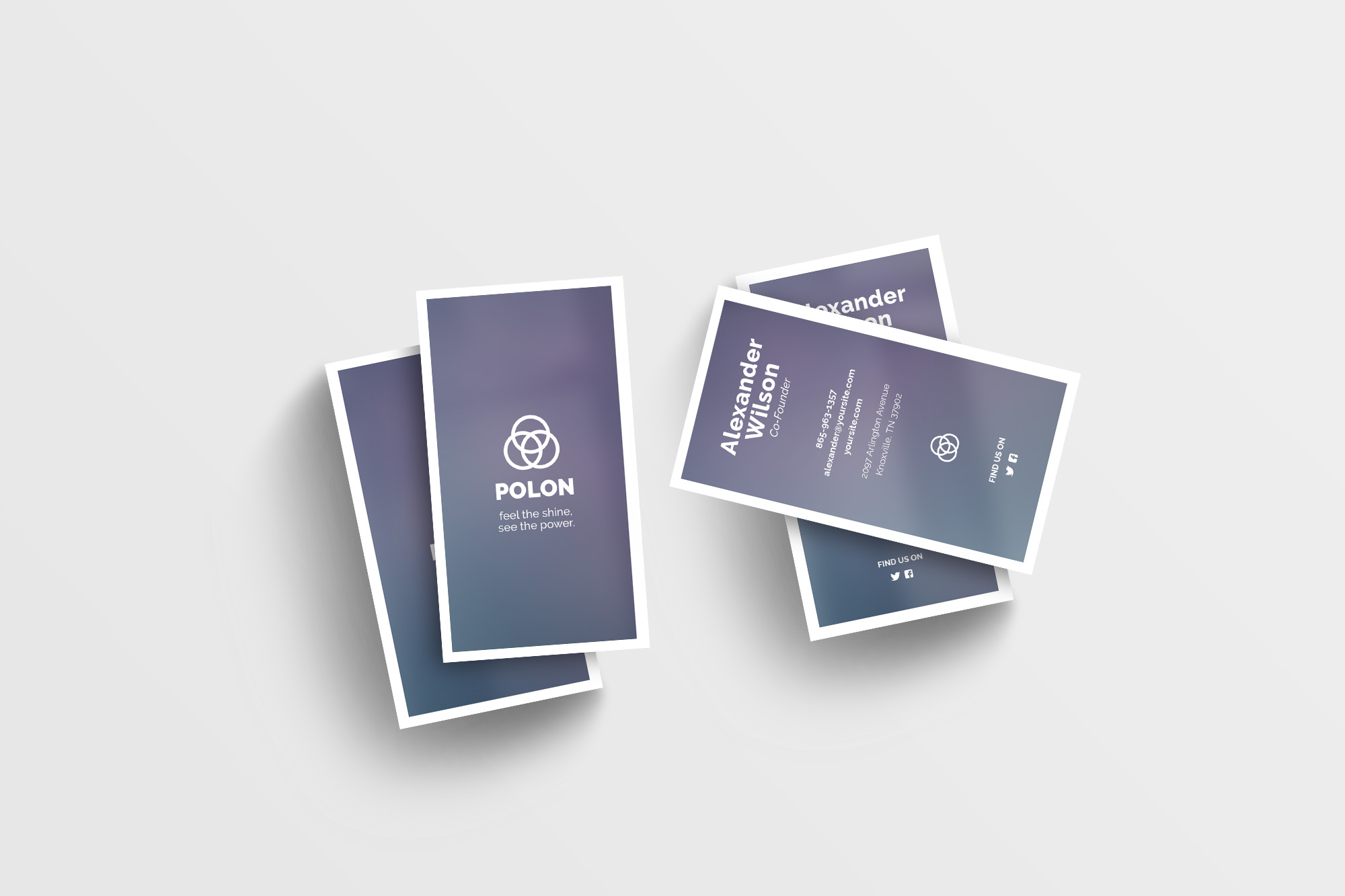 Polon - A Modern Business Card Template example image 7
