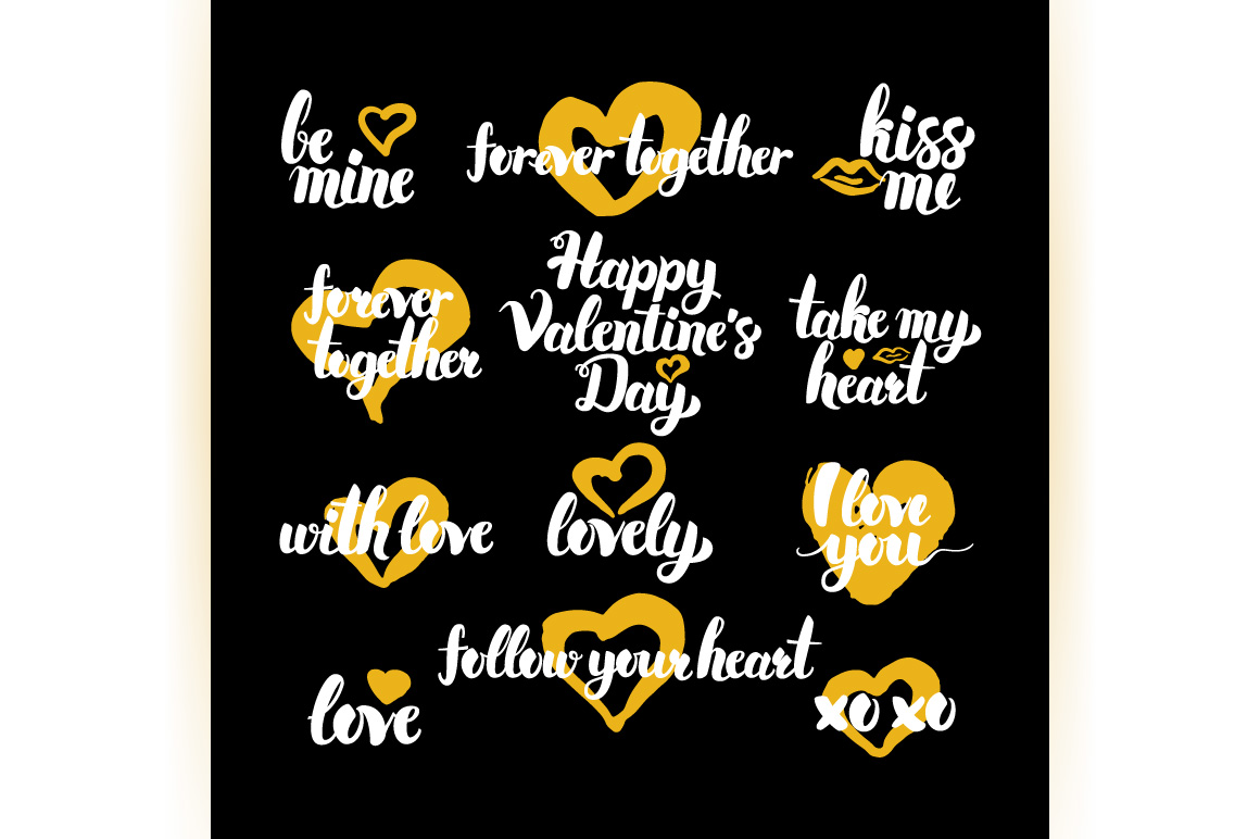 Valentines Day Hand Drawn Quotes example image 3