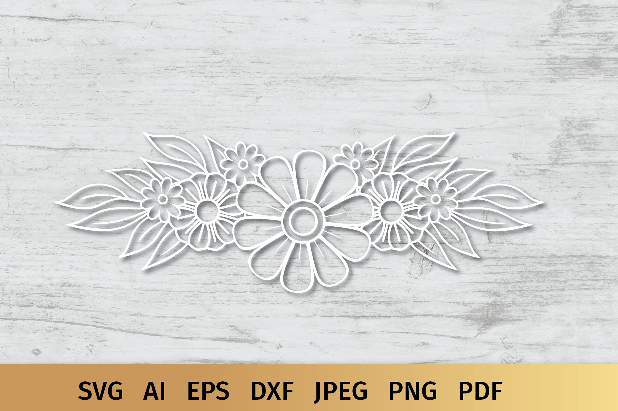 Floral Border and Corner Svg example image 3