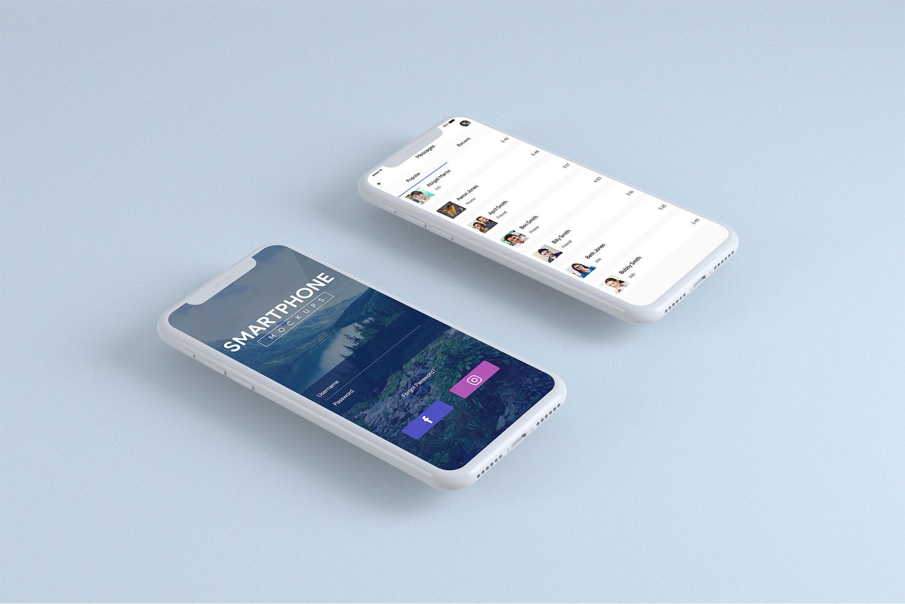 Smartphone Mock-Ups example image 2