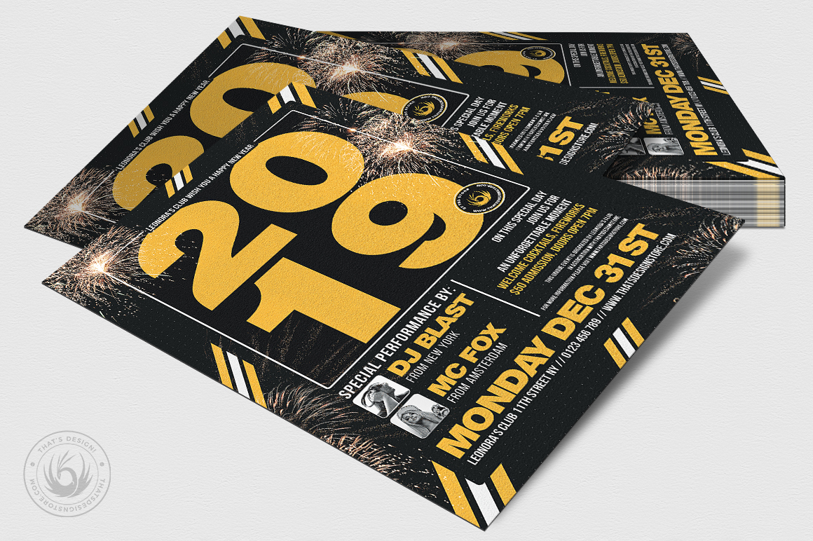 New Year Flyer Template V6 example image 4