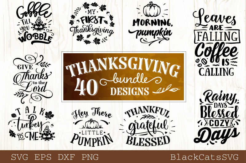 Thanksgiving SVG bundle 40 designs Fall and pumpkins SVG bun example image 2